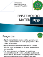 EPISTEMOLOGI MATEMATIKA