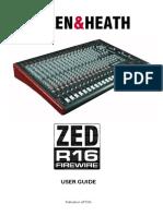 Allen & Heath ZED-R16 Mixer Manual