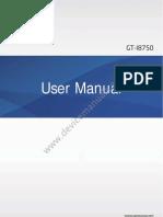 Samsung Ativ S GT-I8750 user manual guide