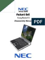 Versa E680 EasyNote E5 - Disassembly Manual