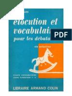 Langue Française Lecture Courante CP CE1 Elocution et vocabulaire Picard 1963
