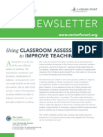 Using Classroom Assessment to Improve Teaching