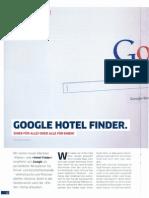 """Google Hotel Finder. Einer für alle oder alle für einen?  (u.a. Interview mit Marco Nussbaum) in der """"Check-In"""" - Das Magazin für Hotel Distribution, Ausgabe 01 / Frühjahr 2013"""