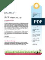 PYP Newsletter April 2013