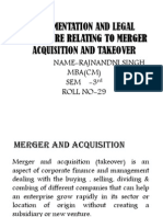 Documentation and Legal Procedure Relating to Merger Acquisition