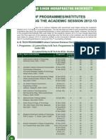 LIST OF PROGRAMMES/INSTITUTES