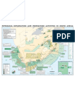 Exploration and production activities map for South Africa