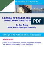 3. Design of Pad Foundations According to EC2