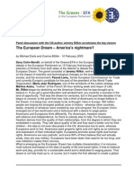 Debate European Dream; America's Nightmare - Jeremy Rifkin