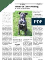 «Hunderassismus» im Kanton Freiburg?
