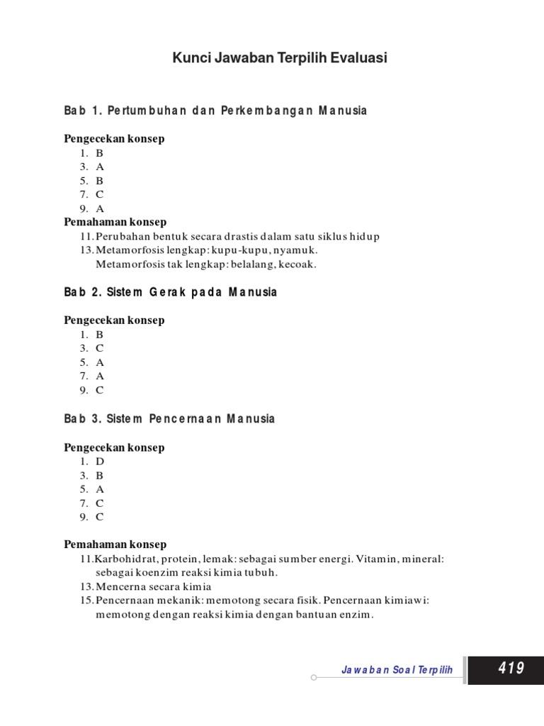 Kunci Jawaban Ipa Kelas 8 Kurikulum 2013 Semester 1 Bab 2 Gudang Kunci