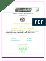 Bangluru City Tracker Project Report