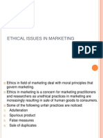Ethical Issues in Marketing