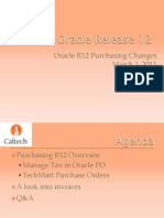 Procurement Oracle R12 Purchasing