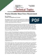 WB Shear Force Measurement Texas Univ
