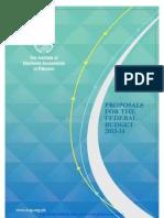 Budget Proposals 2013-14 Icap