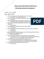70-646 Windows Server 2008 Administrator Knowledge Assessment Chapter 8