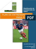 Plan de entrenamiento para fútbol (Guillermo Aser Garcia Diez)