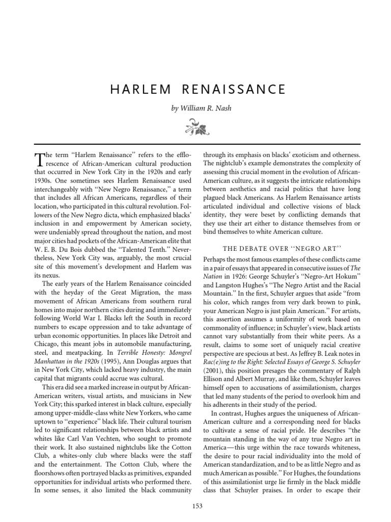 harlem renaissance pdf