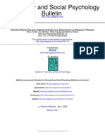 Inductive Reasoning and Judgment Interference: Experiments on Simpson's Paradox