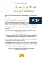 Living Up to Your Word to Develop Charisma