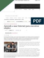 Aprende a Usar Internet Para Encontrar Empleo
