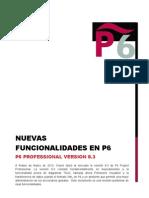 NUEVAS FUNCIONALIDADES EN P6 PROFESSIONAL VERSION 8.3