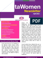 Newsletter 8Delta Women's Newsletter for April 2013
