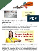 Queimadas adere a paralisação nacional dos professores