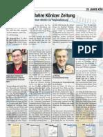 25 Jahre Könizer Zeitung