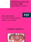 Caries Dentales en Pediatria