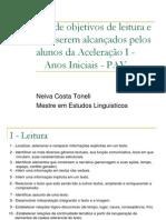Objetivos Leitura e Escrita PAV