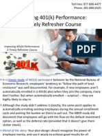 Improving 401(k) Performance A Timely Refresher Course