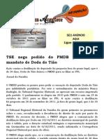 TSE nega pedido do PMDB para cassar mandato de Doda de Tião