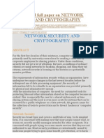 Abstract and Full Paper on Network Security and Cryptography