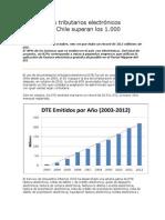 Documentos tributarios electrónicos emitidos en Chile superan los 1