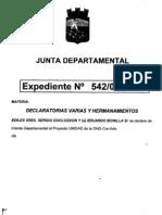"""Declaración de Interés de la Junta Dptal. de Maldonado para Proyecto """"Unidad"""" de O.N.G. CreARTE"""