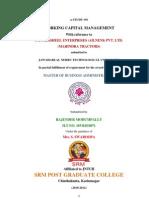 Working Capital Mahindra