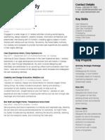 Billy Kennedy Resume / CV