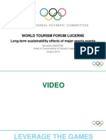 World Tourism Forum Lucerne 2013_Long-Term Sustainability Effects of Major Sport Events