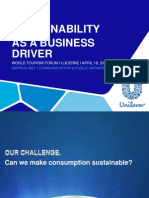 World Tourism Forum Lucerne 2013_Sustainability as a Business Driver