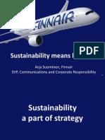 World Tourism Forum Lucerne 2013_Sustainability Means Business_Finnair