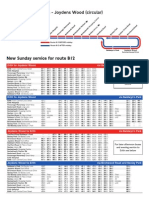 B12 Timetable 28 4 13