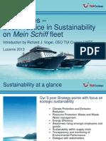 World Tourism Forum Lucerne_2013_TUI Crusises - Best Practice in Sustainability on Mein Schiff Fleet