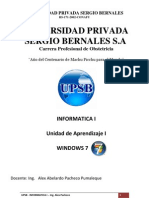 INtroduccion Windows 7 Unidad 1 OBSTETRICIA