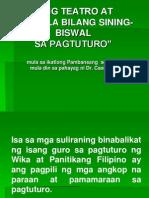 Ang Teatro at Pelikula Bilang Sining-biswal