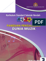 Panduan Pengajaran Dunia Muzik Tahun 3 (Versi Cetak 2013)