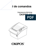 OKIPOS 410 Command Spanish