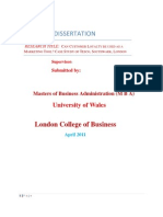 Dissertation-customer Loyalty Tesco