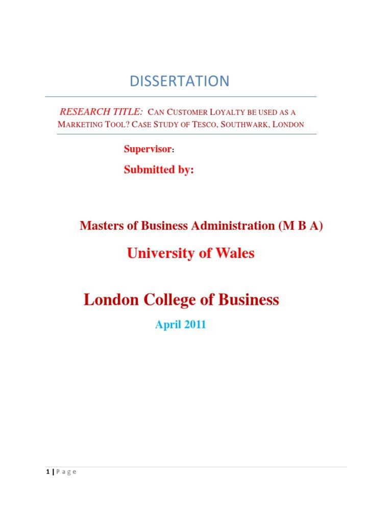 Dissertation diverity audit
